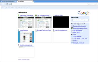 La page d'accueil de Google Chrome a été bien pensée