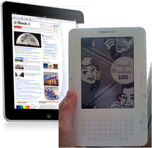 Kindle de Amazon et iPad de Apple